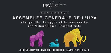 Assemblée Générale de l'UPV  jeudi 28 juin 2018 à l'Université de Toulon