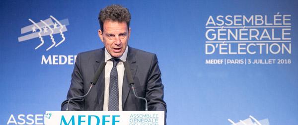 Geoffroy Roux de Bézieux élu président du MEDEF