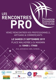 Les Rencontres Pro le samedi 21 septembre 2019 à Saint Maximin